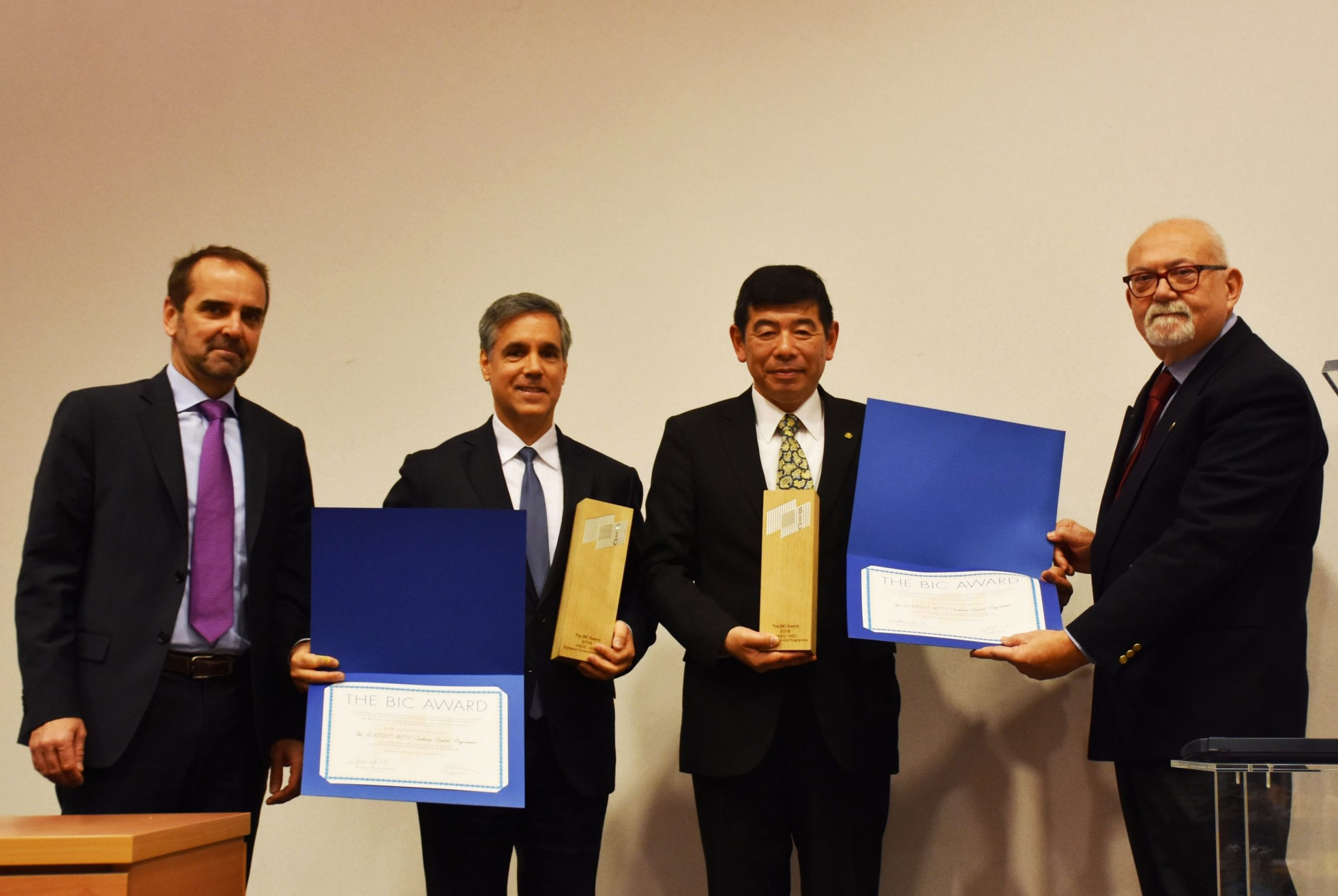 The Bureau International des Containers (BIC) is pleased to announce that the UNODC-WCO Container Control Programme (CCP) has won the 2018 BIC Award which was recently presented at the World Customs Organization headquarters in Brussels.