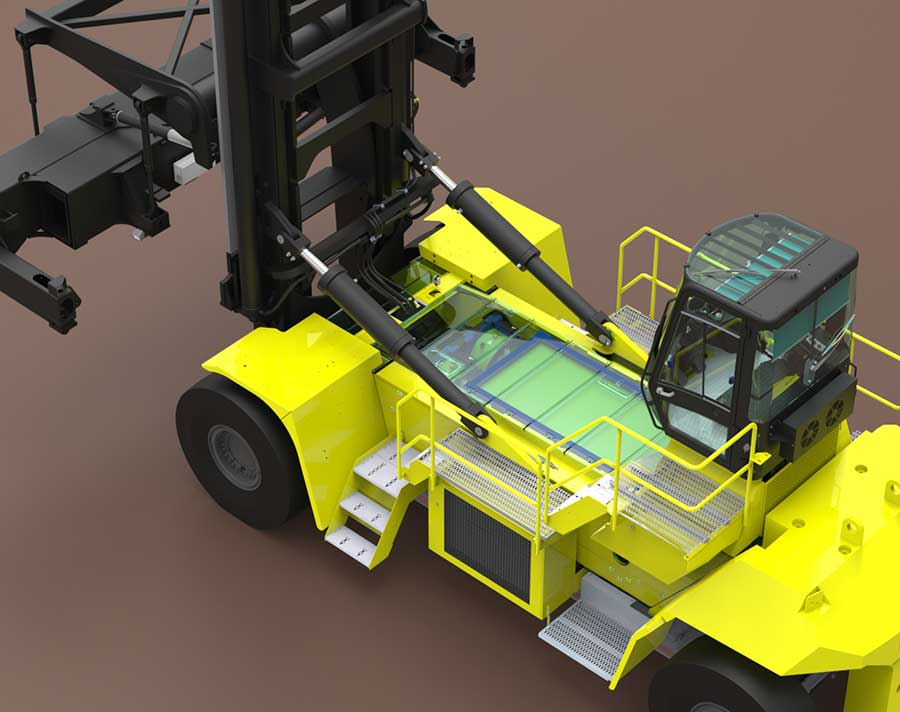 Ahead of the Greenport Congress from 16-19 October, Hyster Company has announced the receipt of a grant from California Climate Investments (CCI) to support the development of a zero-emissions container handling truck powered by a Nuvera® fuel cell.