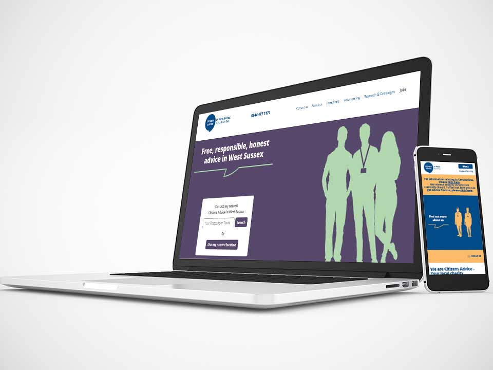 Website Development for Citizens Advice W. Sussex